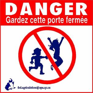 Affiche - Danger Gardez cette porte fermée