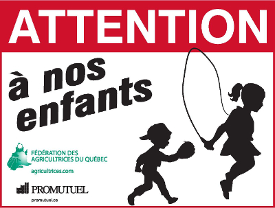 Affiche - Attention à nos enfants